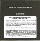 PUBLIC SERVICE BROADCASTING - Progress 1 track PROMO CDr