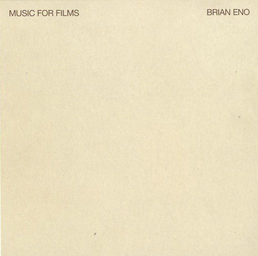 BRIAN ENO - Music For Films CD