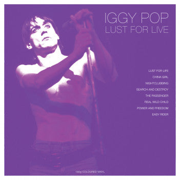 IGGY POP - Lust For Live LP WHITE VINYL