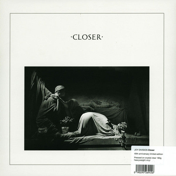 JOY DIVISION Closer CLEAR VINYL LP 40th Anniversary Edition