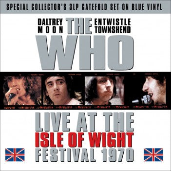 THE WHO Live At The Isle Of Wight Festival 1970 3LP BLUE VINYL