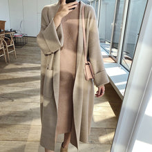 Load image into Gallery viewer, 2019 Autumn Women Poncho Long Sleeve Loose Style Knitted Long Sweater Coat-Bohemian for all season-crazywomenz