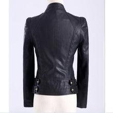 Load image into Gallery viewer, 3XL Plus Size Rivet PU leather Motorcycle jacket 2019 European Slim-Bohemian for all season-crazywomenz