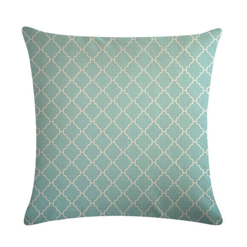 mint green Marble Geometric Cushion Cover Pillow Pillowcase Linen-Quirky Products-crazywomenz