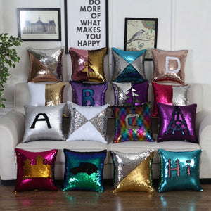 40*40 Sequins Cushion Mermaid Cushion Cover Reversible Sequin cover-Quirky Products-crazywomenz