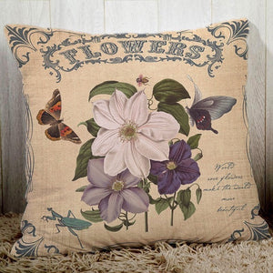Couch cushion cover butterfly pillows peach fiber pillowcase-Quirky Products-crazywomenz