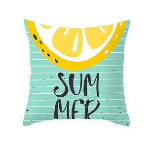 CartoonTropical Fruit Cushion Pillowcase Cover Coconut Strawberry-Quirky Products-crazywomenz
