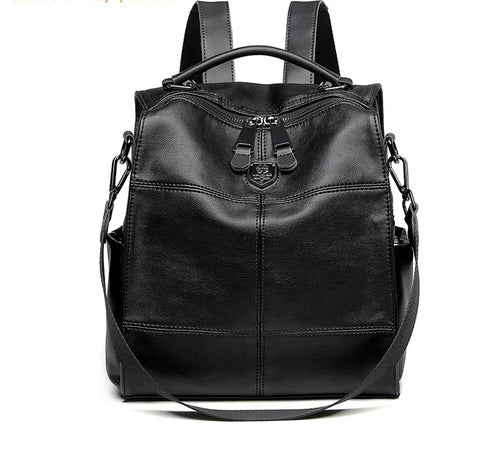 New Arrival Backpack For Women Black High Quality Synthetic Leather Backpack-Bohemian for all season-crazywomenz