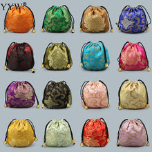 Load image into Gallery viewer, 10Pc Chinese Silk Satin Fabric Jewelry Gift Pouch Drawstring-Quirky Products-crazywomenz