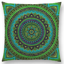 Load image into Gallery viewer, Hippie Mandala Boho Rainbow Floral Pattern Cushion Vintage Circle Cover-Quirky Products-crazywomenz