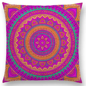 Hippie Mandala Boho Rainbow Floral Pattern Cushion Vintage Circle Cover-Quirky Products-crazywomenz