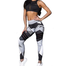 Load image into Gallery viewer, Women Yoga Sets Strip Print Fitness Workout Clothing Gym Running Girls Sexy Slim-sports-crazywomenz