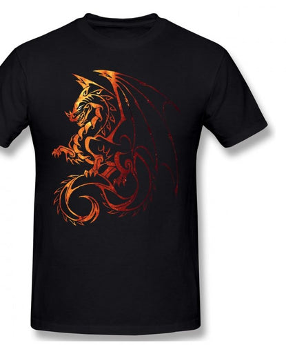 Dragon T Shirt Dragon T-Shirt Cute Male Tee Shirt 6xl Graphic Cotton short sleeves-Men & Boys wear-crazywomenz