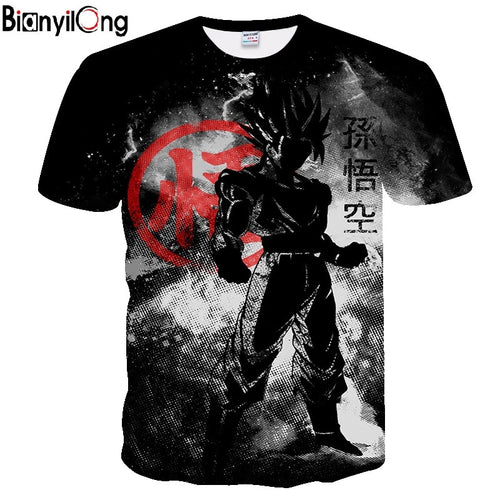 Summer 2019 new dragon ball t shirt black funny t shirts Dragon Ball-sports-crazywomenz