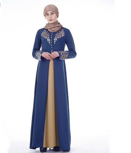 2019 Abaya Dubai Muslim Dress Women Maxi Dresses-Islamic Abayas & Kaftans-crazywomenz