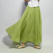 Load image into Gallery viewer, 2019 Women Linen Cotton Long Skirts Elastic Waist Pleated Maxi Vintage-Islamic Abayas & Kaftans-crazywomenz