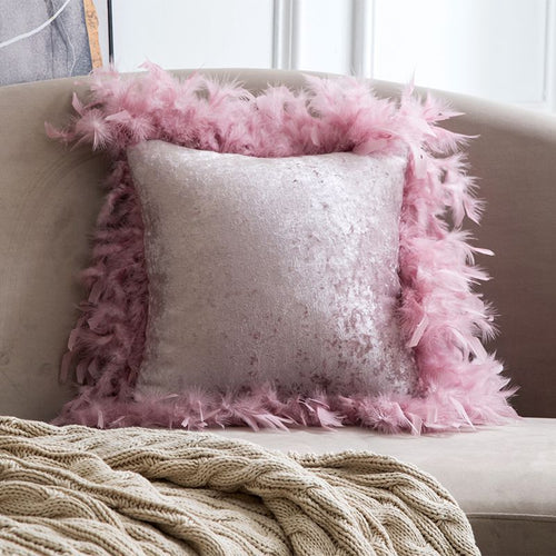 Luxury Throw Pillow Covers Velvet Elegant Cases Square Soft Cushion Covers-Quirky Products-crazywomenz