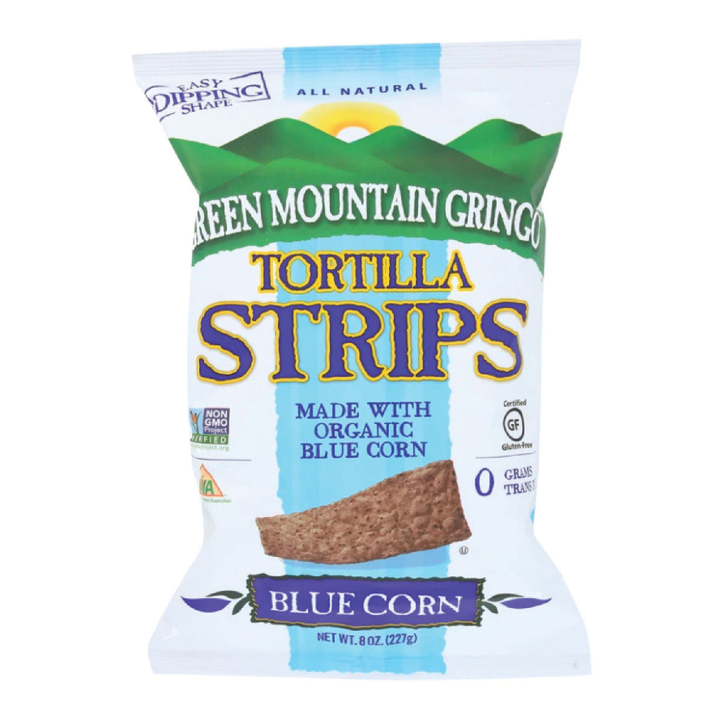 Green Mountain Gringo - Blue Corn Organic Tortilla Strips 8 oz.