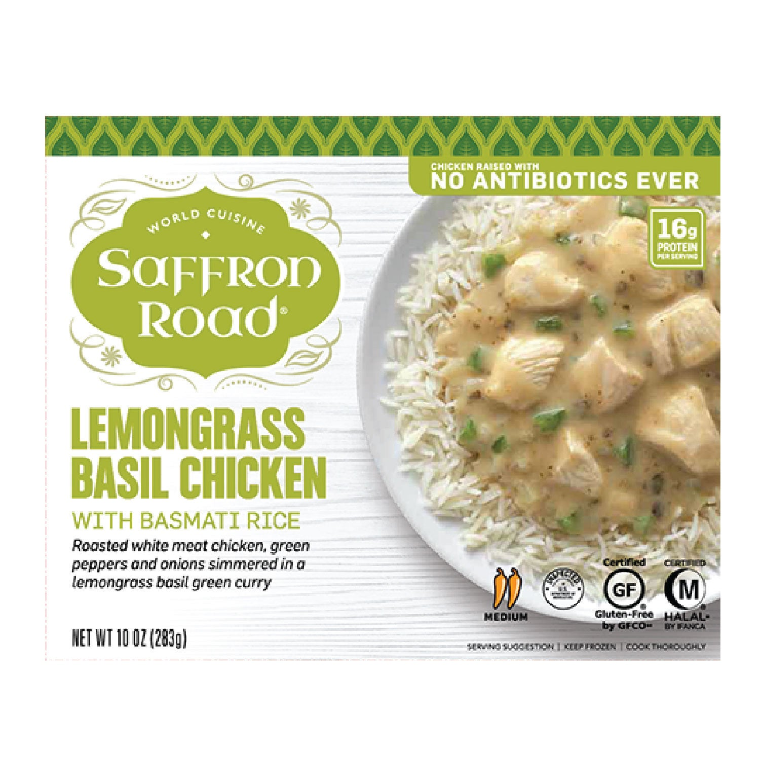 Saffron Road: Lemongrass Basil Chicken - 10 oz.