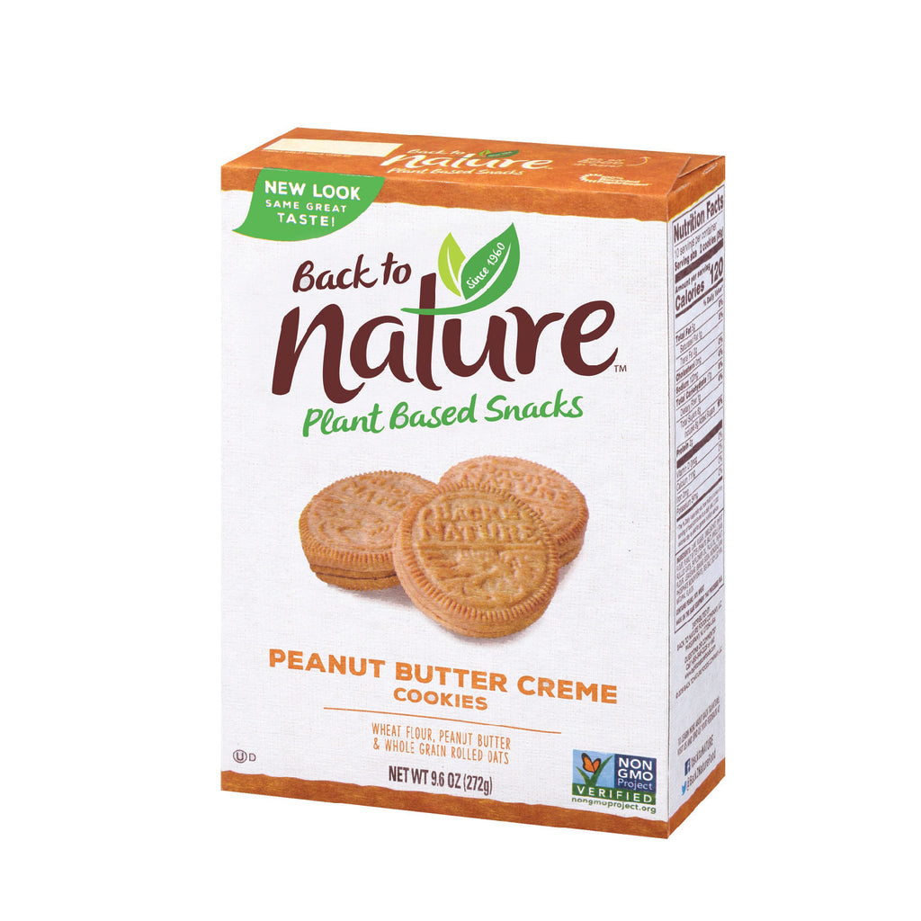 Back To Nature: Peanut Butter Creme Cookies - 9.5 oz.