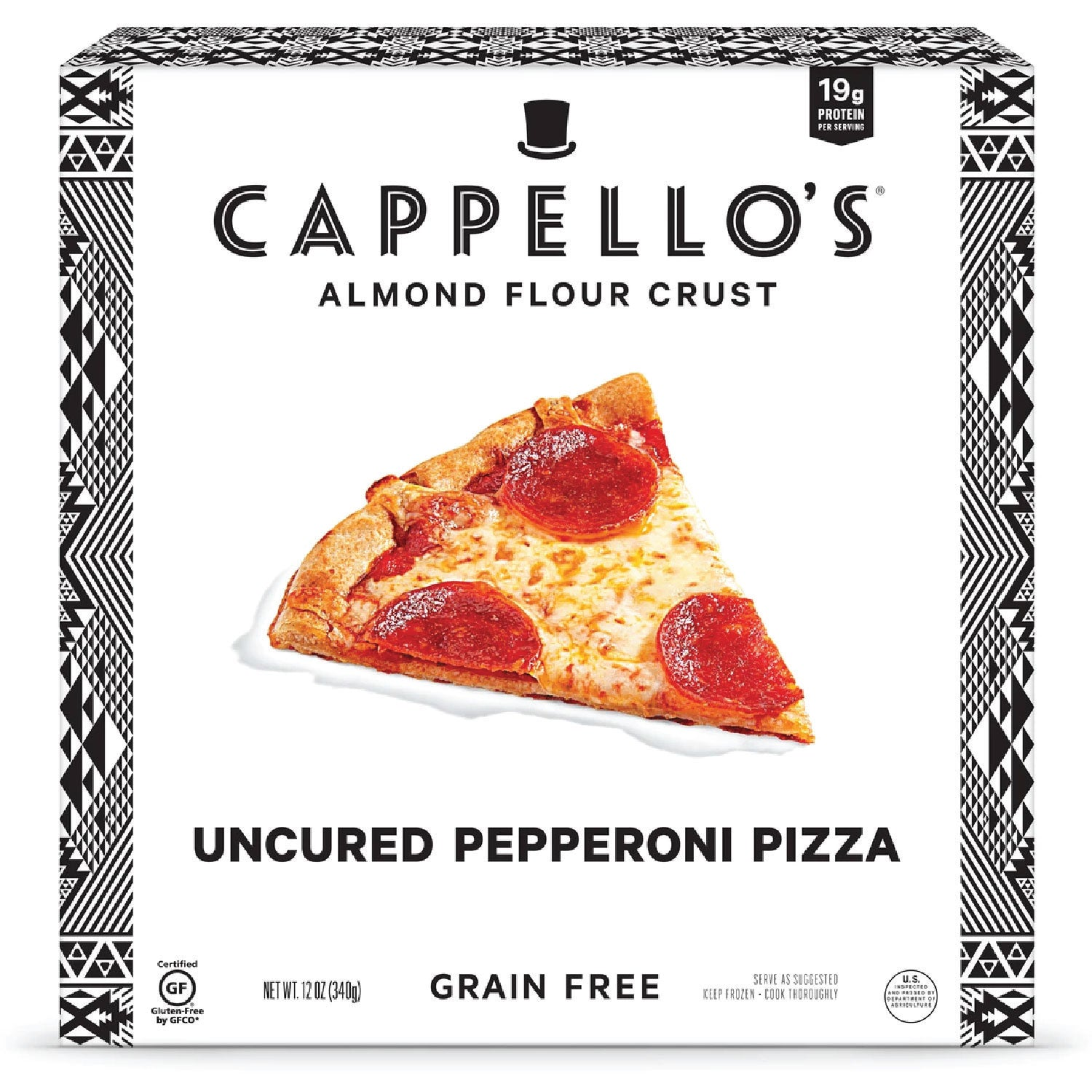 Cappello's Uncured Pepperoni Pizza - 12 oz.