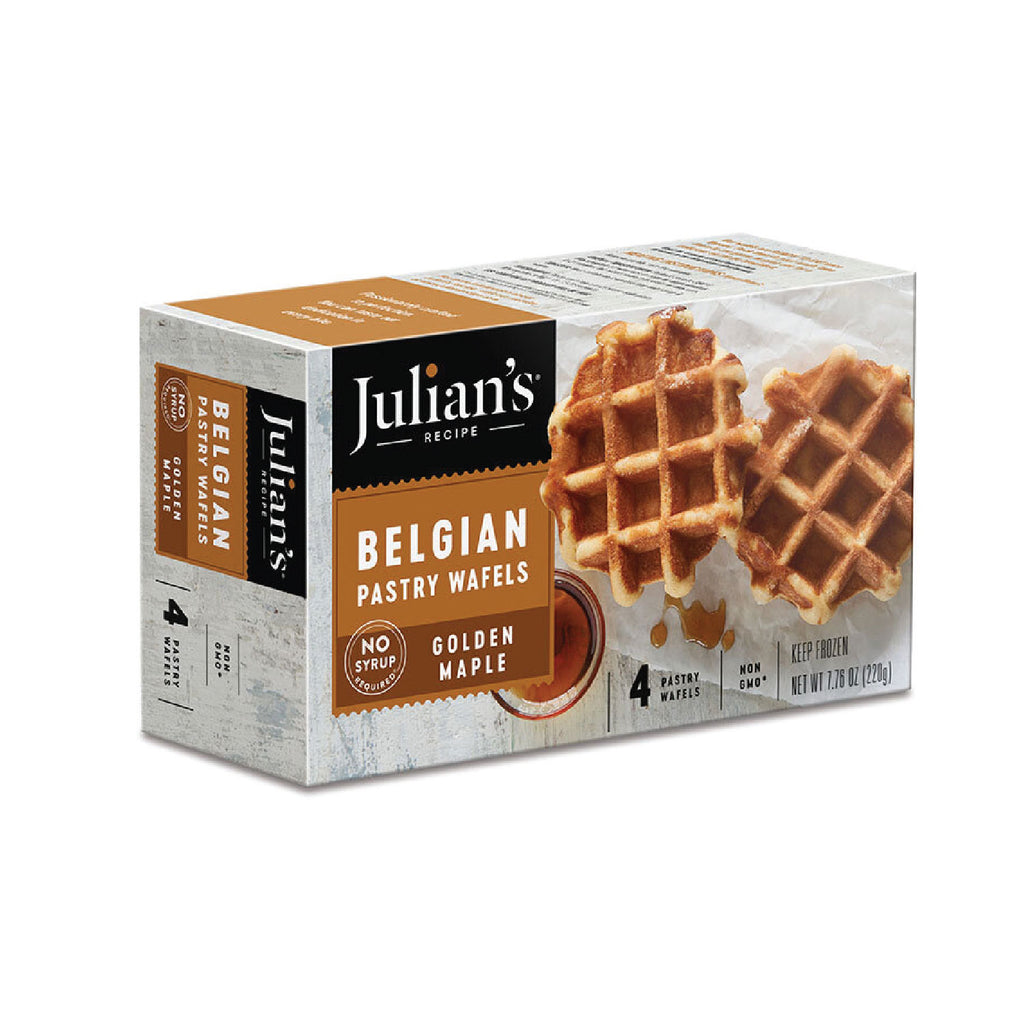 Julian's Belgian Pastery Waffels - Golden Maple (4 pack)