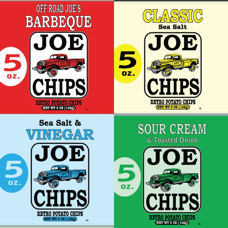 (4 Pack) JOE CHIPS 5 oz.