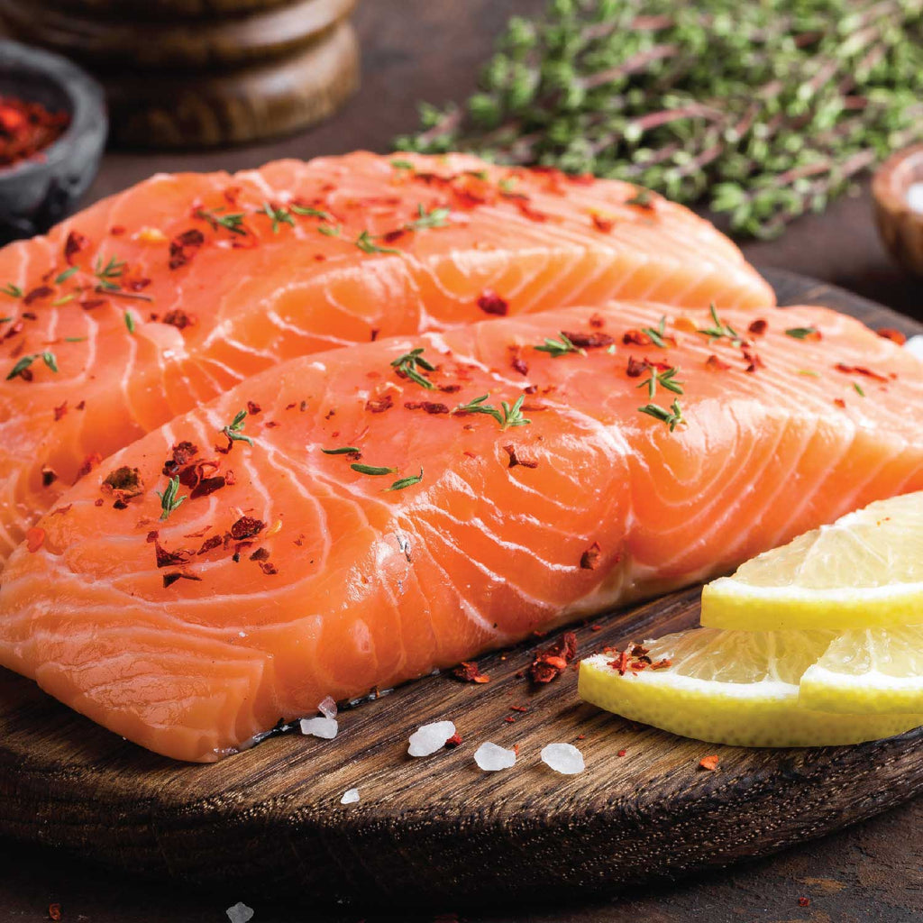 Norwegian Salmon Filets 6 oz 2 pc Bag nj delivery