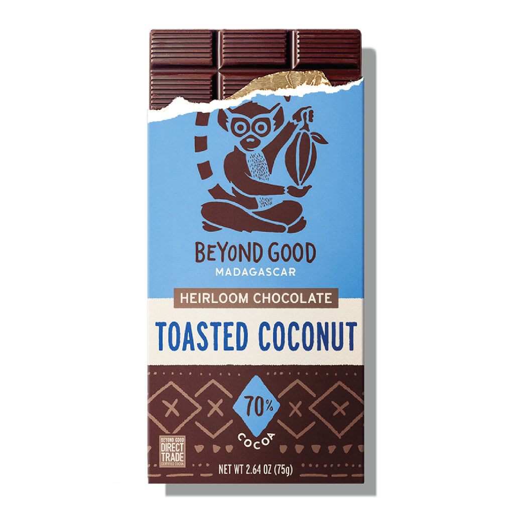 BEYOND GOOD - TOASTED COCONUT, 70% SINGLE ORIGIN MADAGASCAR COCOA