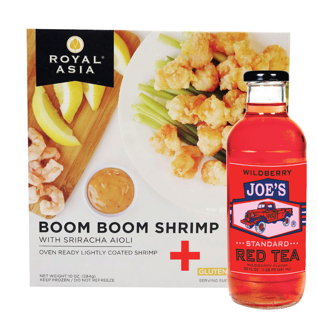 Royal Asia: Boom Boom Shrimp, 10 oz + A Bottle Of Standard Wild Berry Red Tea