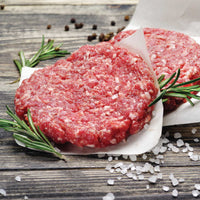 Sirloin Steak Burgers  5 oz.  Patties.  10 lb Box or 4 patty Bag