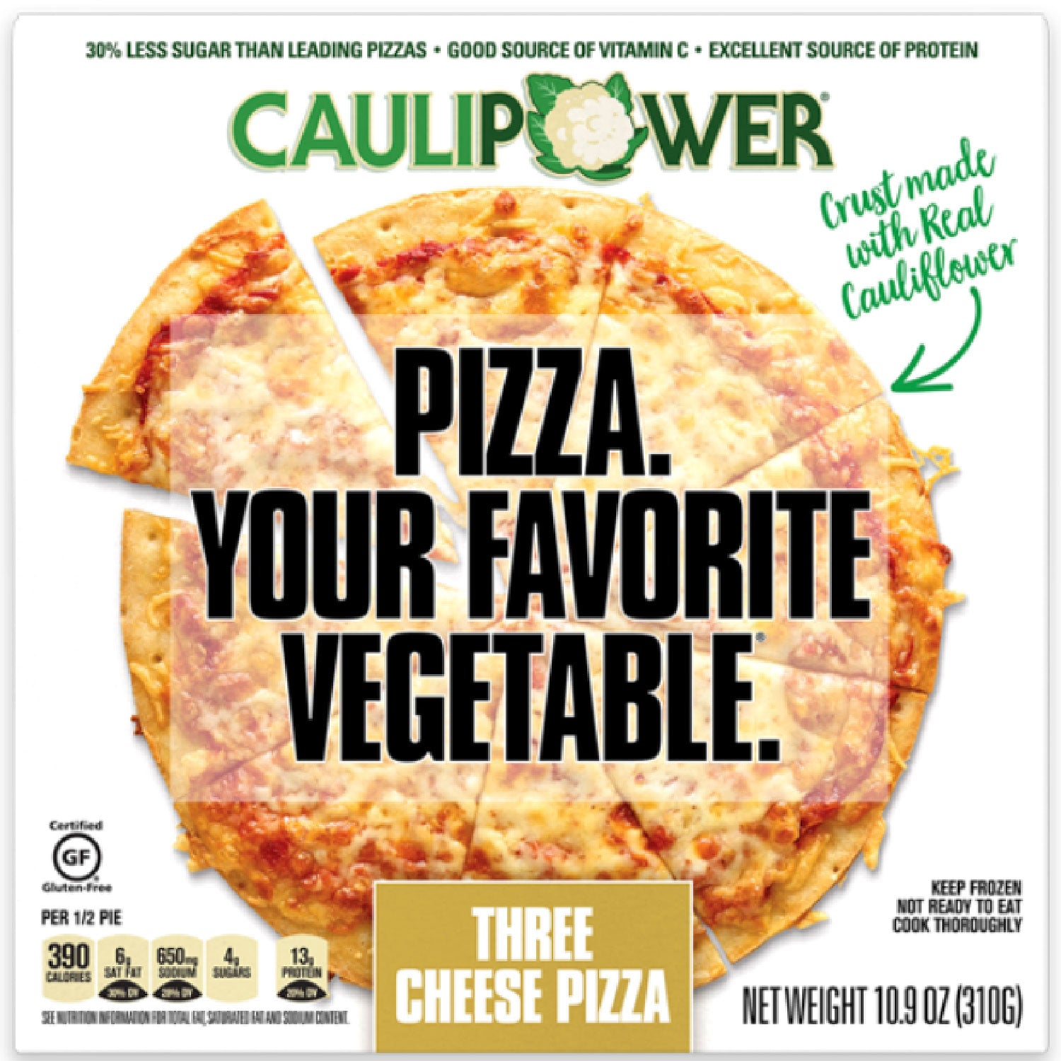 CAULIPOWER Three Cheese Cauliflower Crust Frozen Pizza - 10.9 oz.
