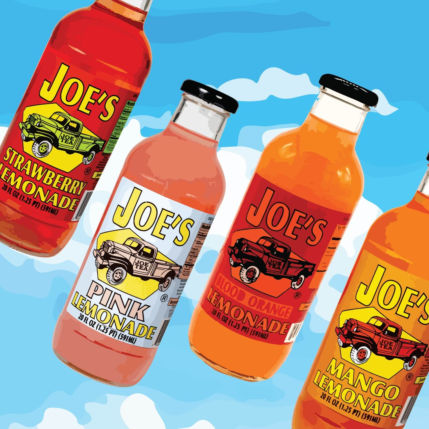 Joe's Lemonade Summer Sampler (4 Bottles)