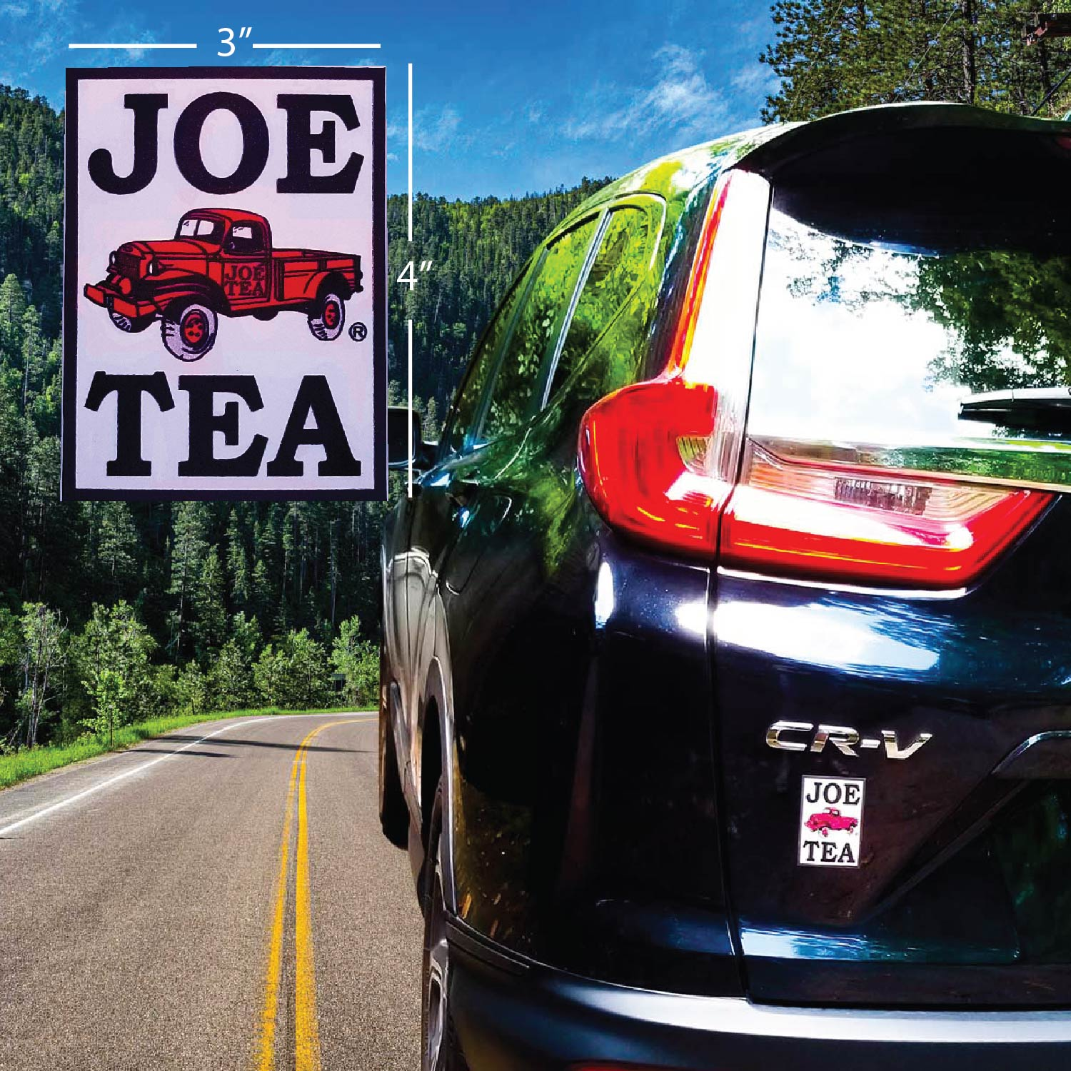 Joe Tea Logo  - Car Decal