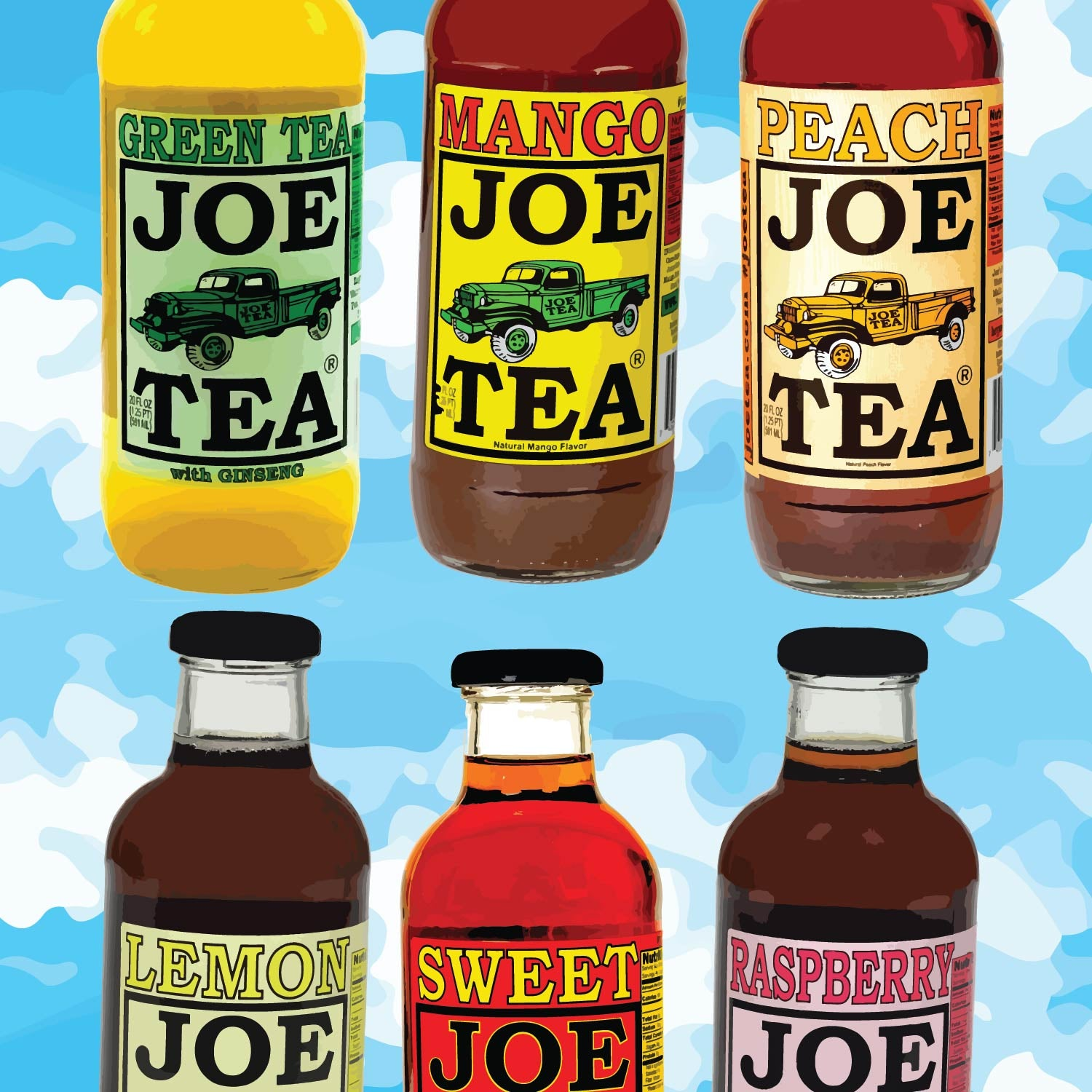 JOE TEA and Lemonade 20 oz - 4 Bottles per flavor