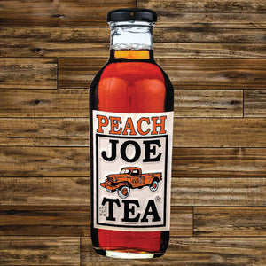 Peach Tea Sign – Embossed Aluminum