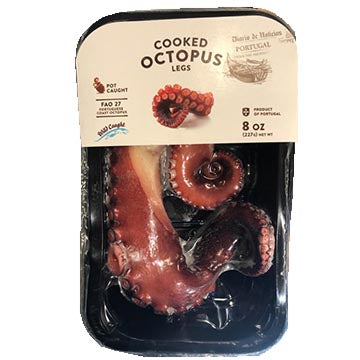 Cooked Octopus Legs - 8 oz.