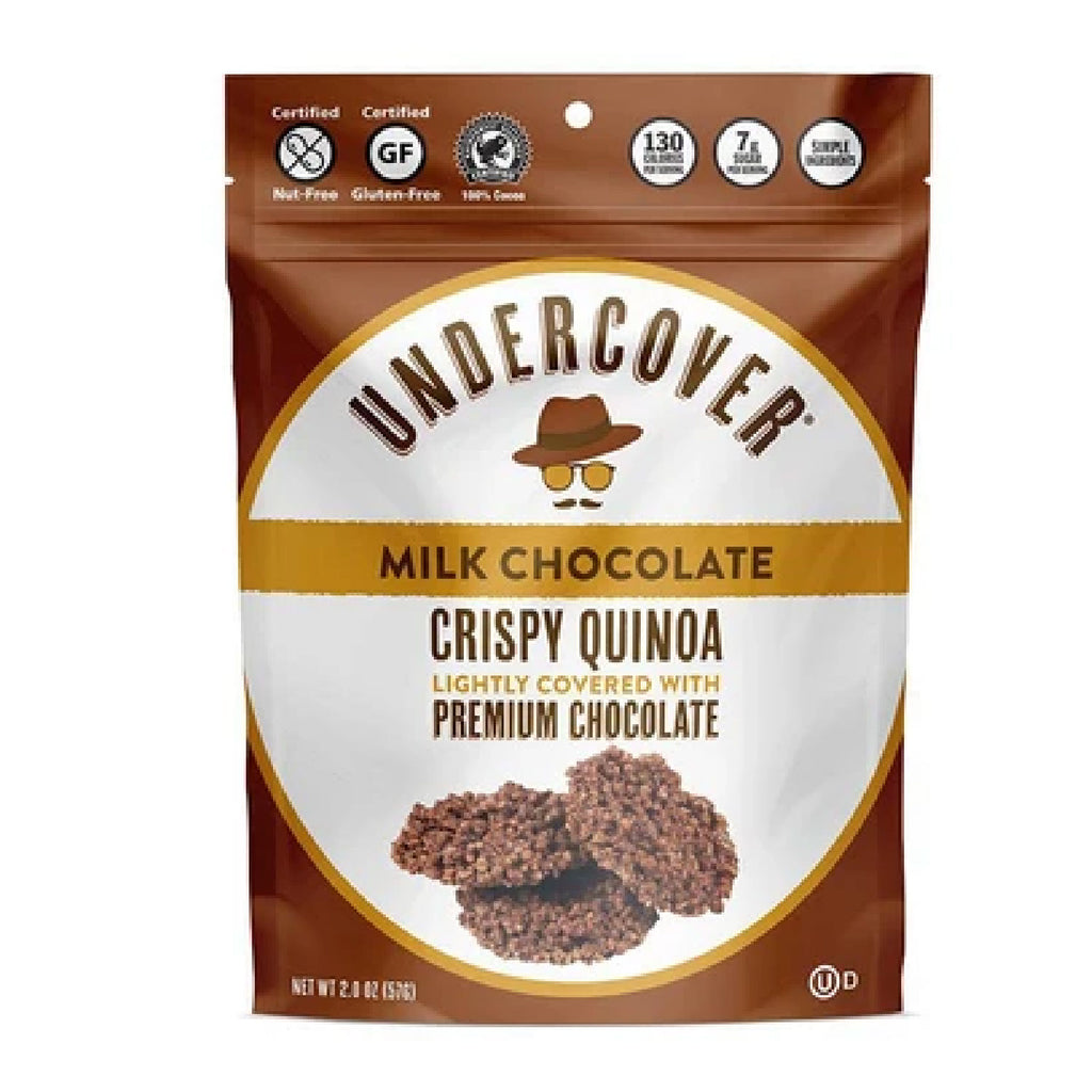 Undercover Crispy Quinoa: Milk Chocolate - 2 oz.