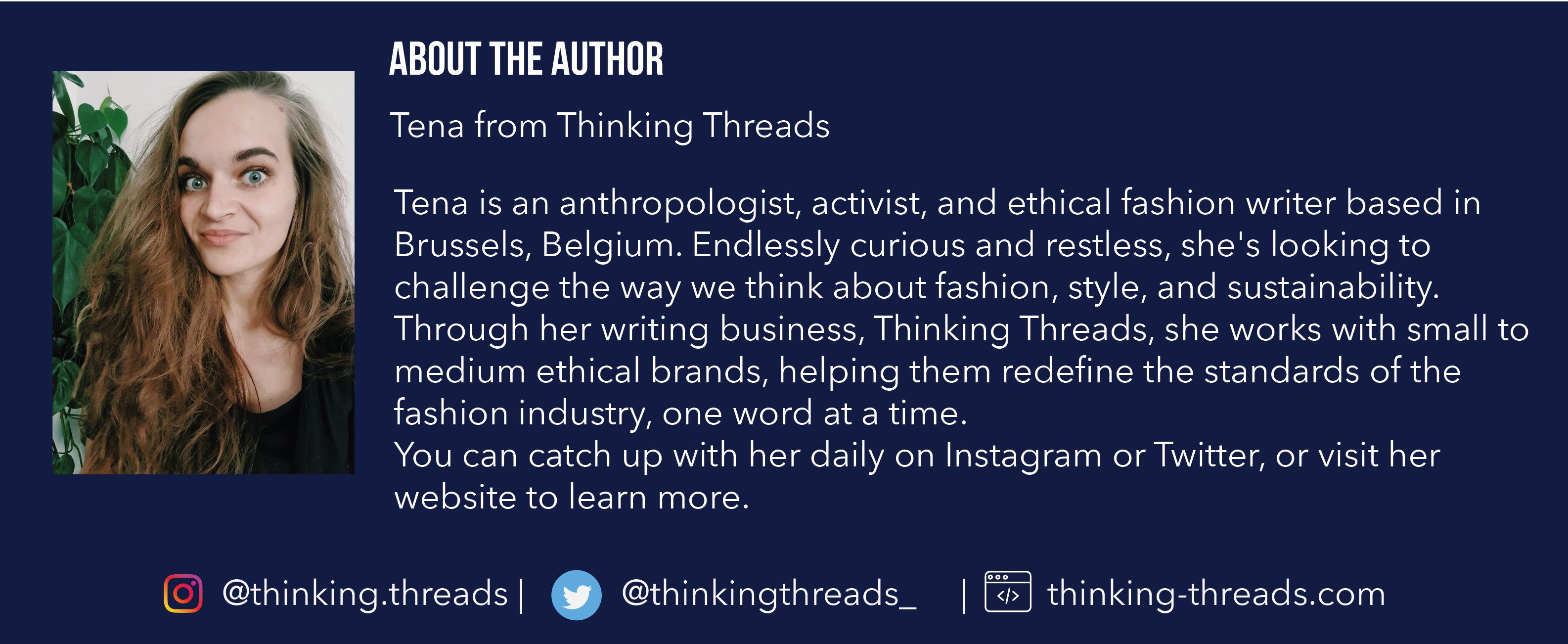 About the author: Tena from Thinking Threads