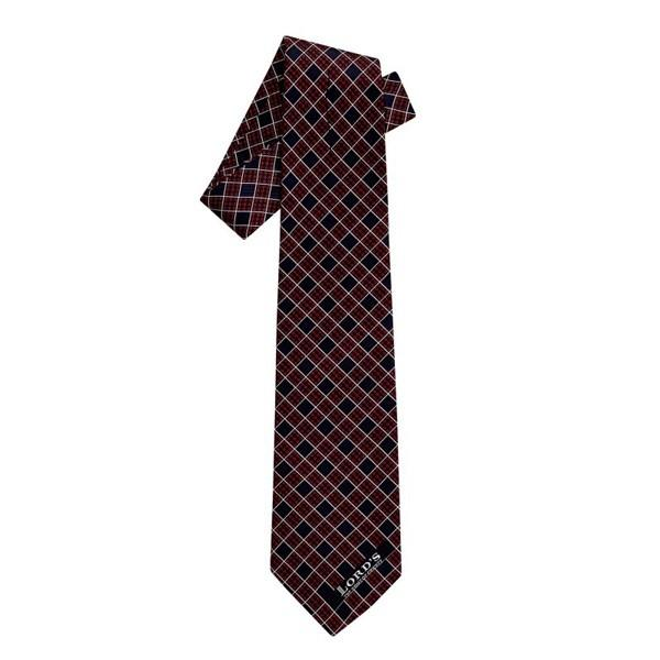LORD'S CHECK DESIGN SILK TIE