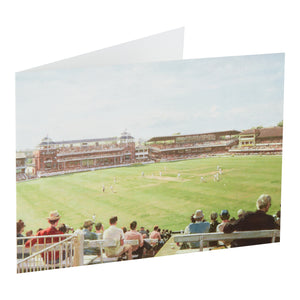 ENGLAND v AUSTRALIA CENTENARY TEST MATCH, 1980 - GREETING CARD & ENVELOPE