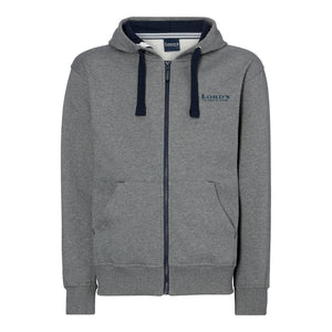 LORD'S ADULT HOODED TOP FULL ZIP GREY/NAVY