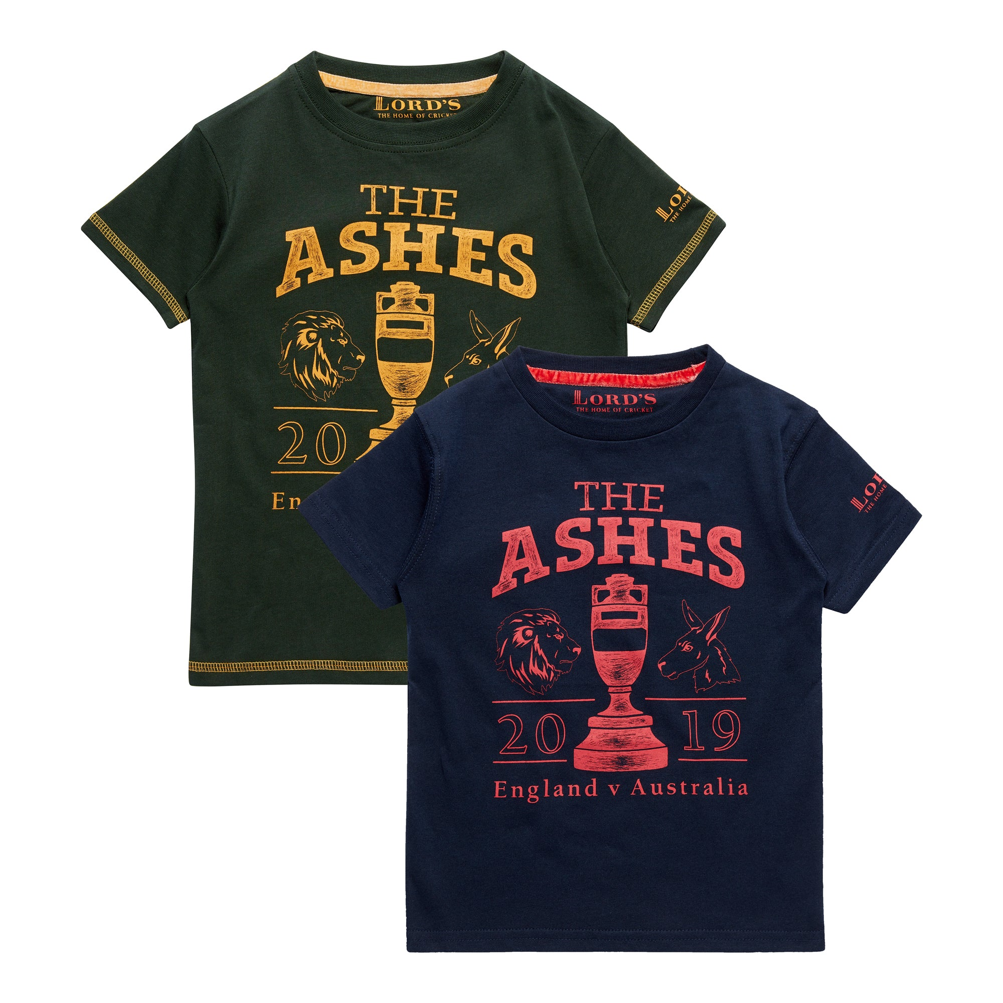 ASHES URN NAVY/RED CHILDREN'S T-SHIRT