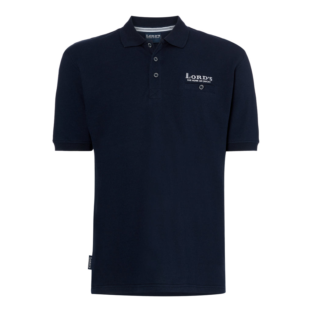 LORD'S PIQUÉ POCKET POLO SHIRT NAVY