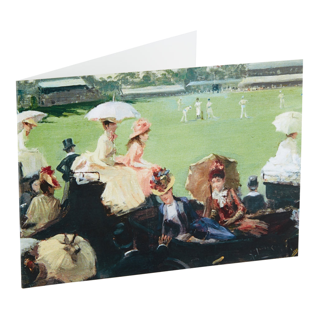 ETON v HARROW, LORD'S, CIRCA 1889 - GREETING CARD & ENVELOPE