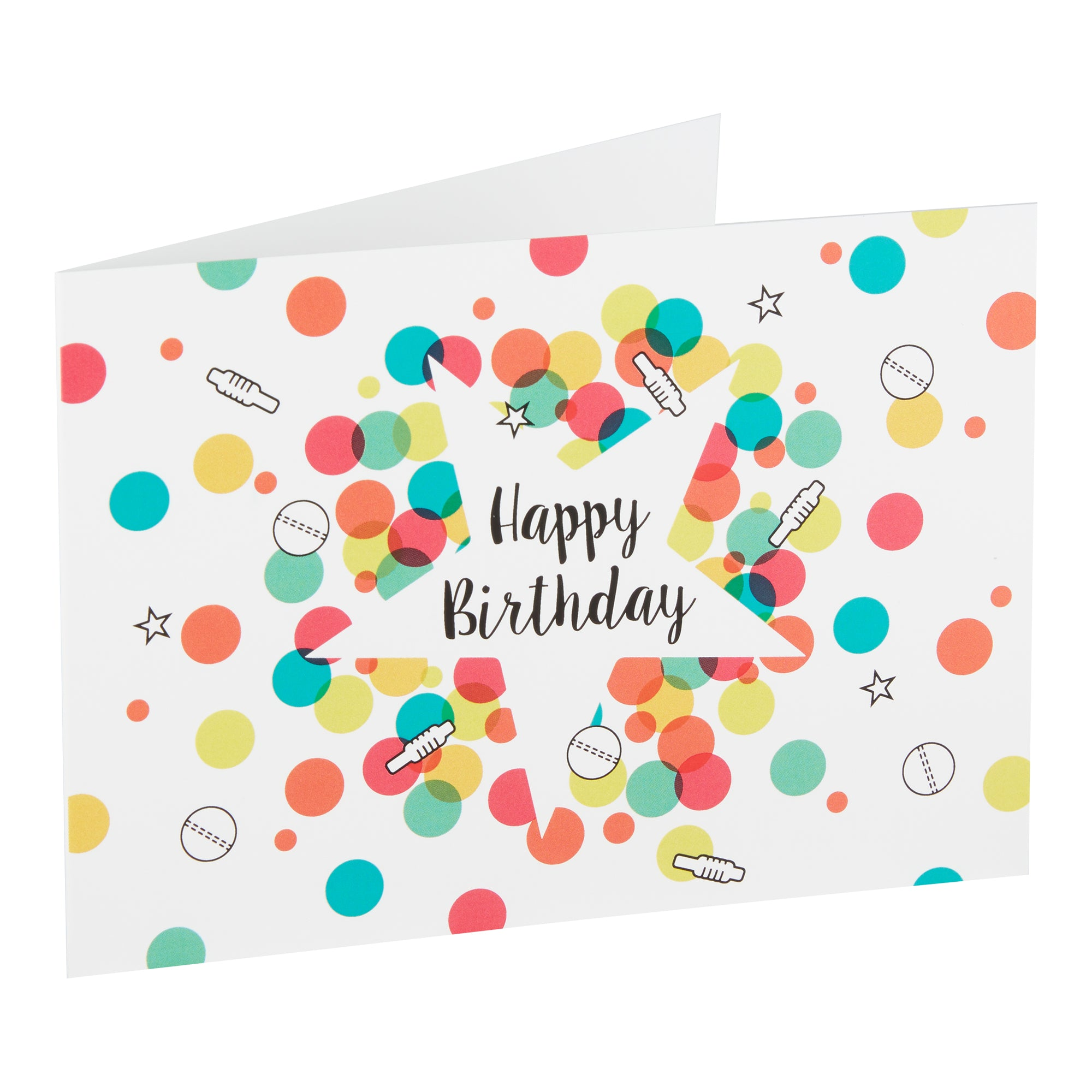 HAPPY BIRTHDAY - GREETING CARD & ENVELOPE