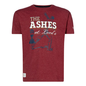 ASHES URN BURGUNDY T-SHIRT