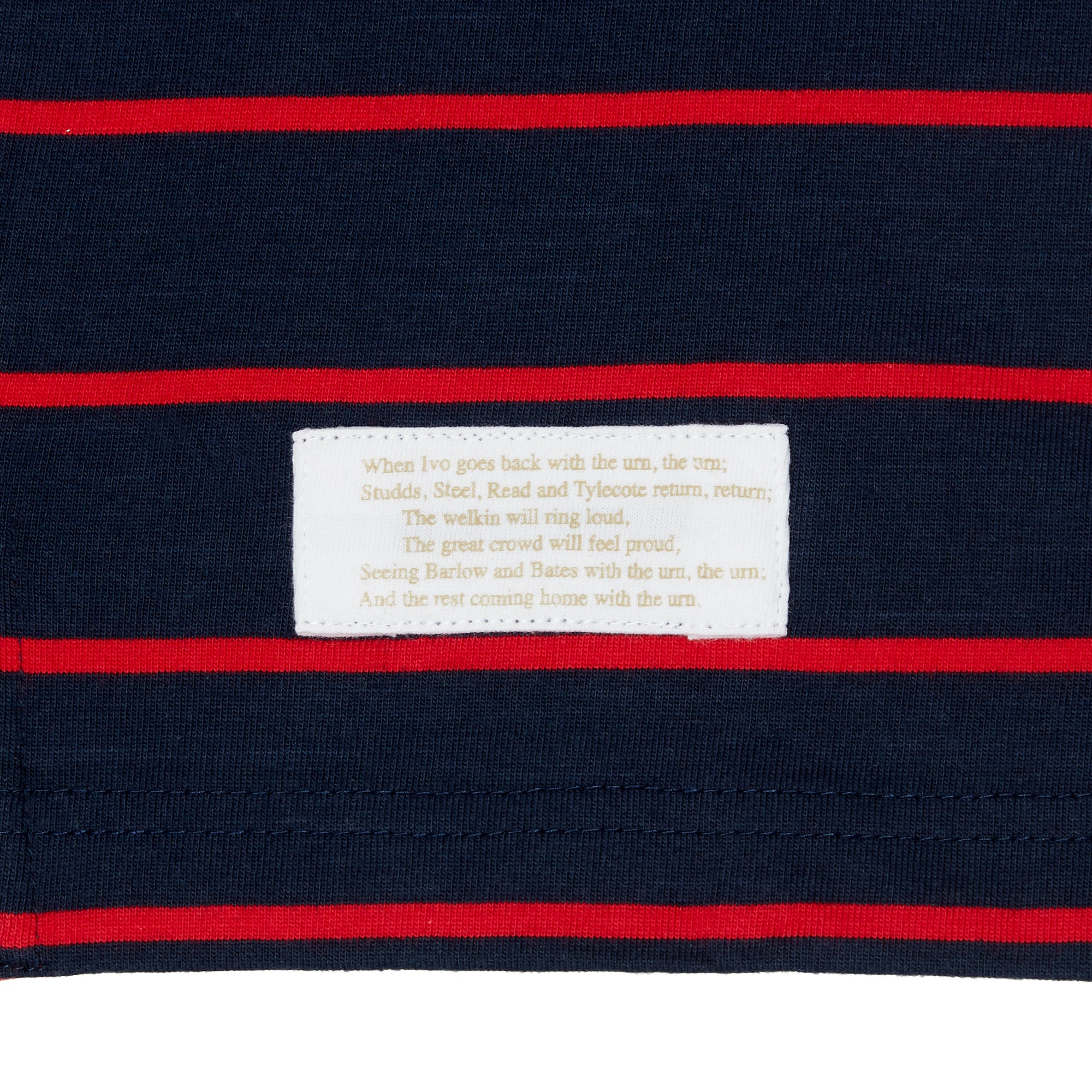 ASHES URN NAVY/RED STRIPED POLO SHIRT
