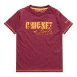 CHILDREN'S CRICKET AT LORD'S BURGUNDY T-SHIRT