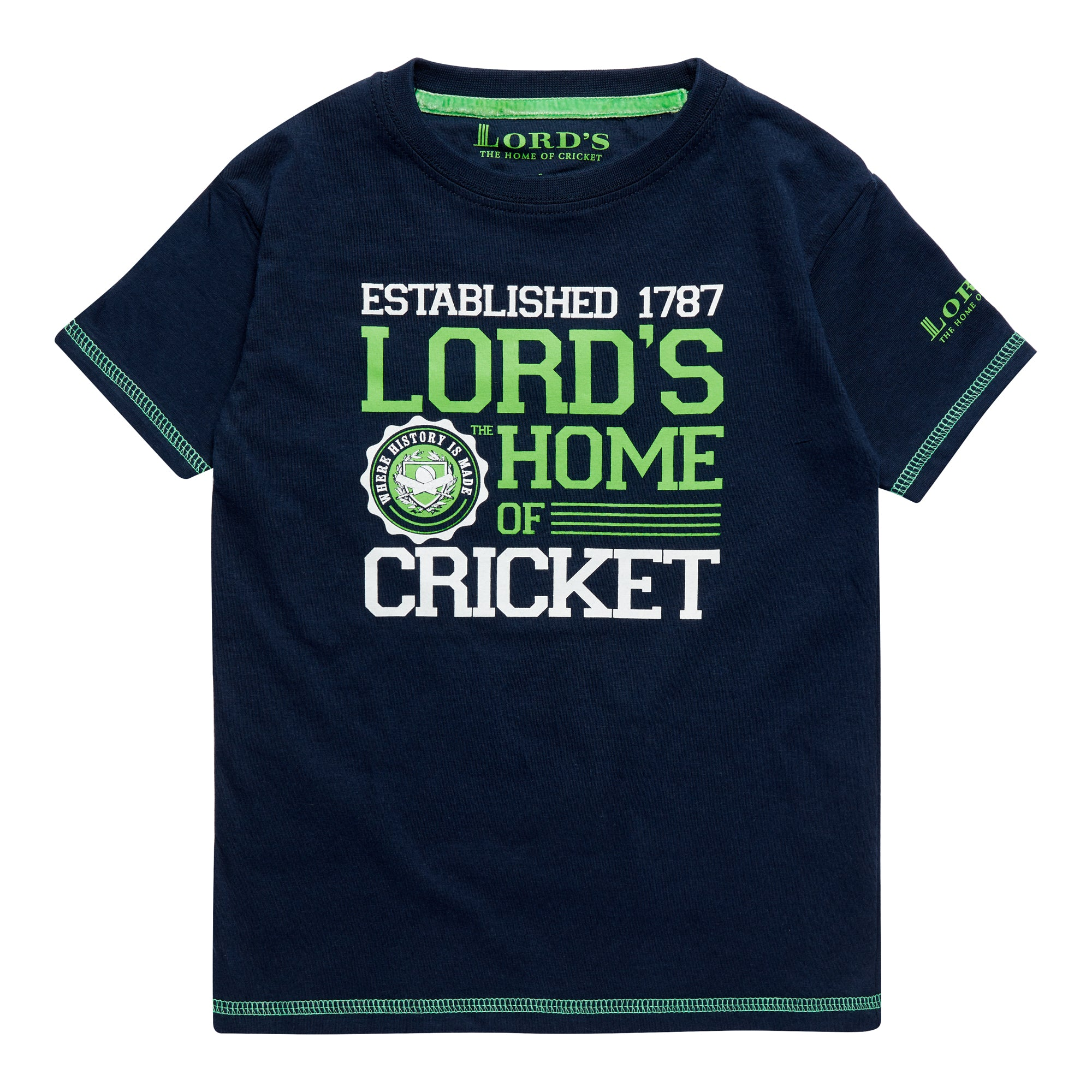 CHILDREN'S LORD'S THE HOME OF CRICKET NAVY T-SHIRT